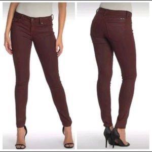 Deep Red Skinny Jeans Women Size 27